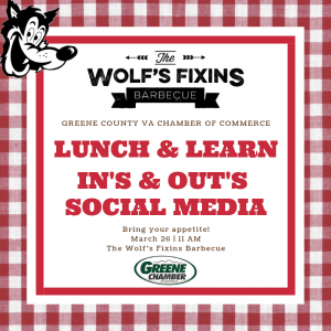 Lunch 'n Learn - Ins & Outs of Social Media @ The Wolf's Fixins | Ruckersville | Virginia | United States